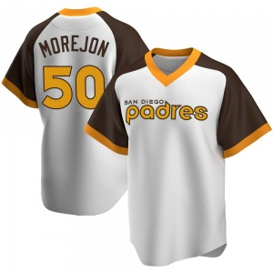 Adrian Morejon San Diego Padres Youth Replica Home Cooperstown Collection Jersey - White